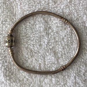 "Pandora Iconic Sterling Silver Charm Bracelet 6.7"""